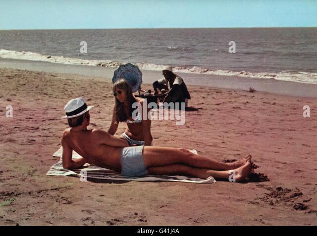 The Guru, USA/Indien 1969, Regie: James Ivory, Darsteller: Michael York, Rita Tushingham - Stock-Bilder