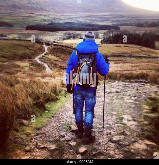 Walking in the Yorkshire Dales. - Stock Image