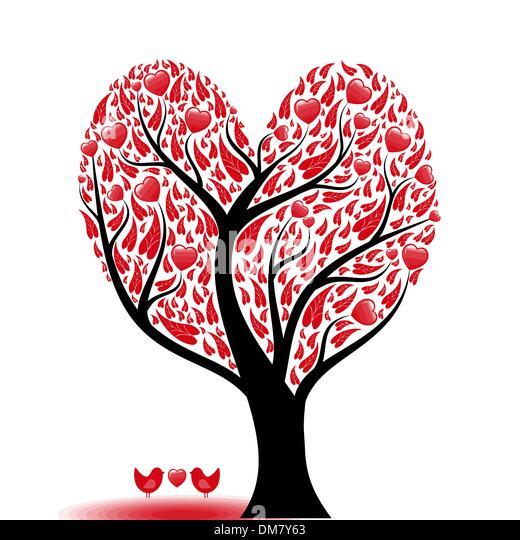 Love tree - Stock-Bilder