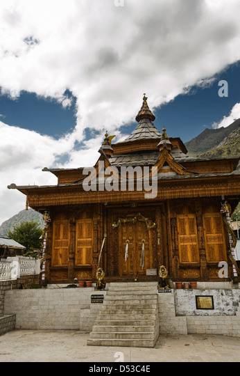 hinduism temple in himalayas mountain - Stock Image