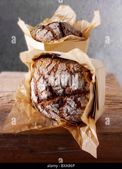 Artisan organic Deli Rye loaf - Stock Image