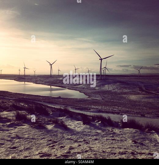 Whitlee wind farm, Eaglesham Moor, Scotland - Stock Image
