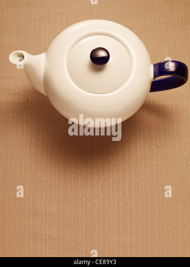 Teapot from above - Stock-Bilder