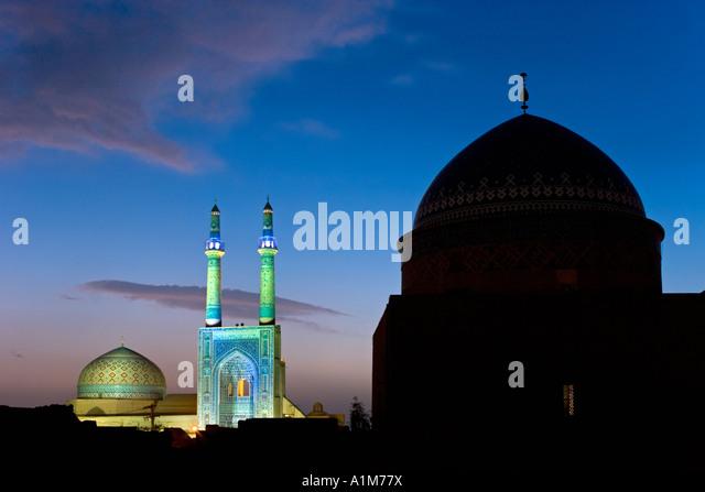 Jameh Mosque, Yazd, Iran - Stock Image