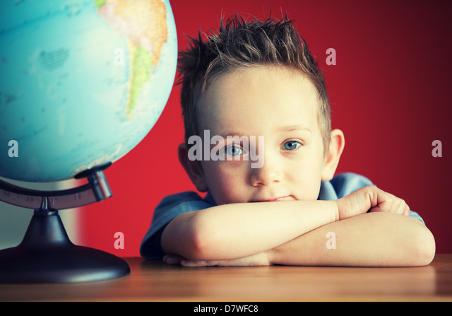 school boy - Stock Image