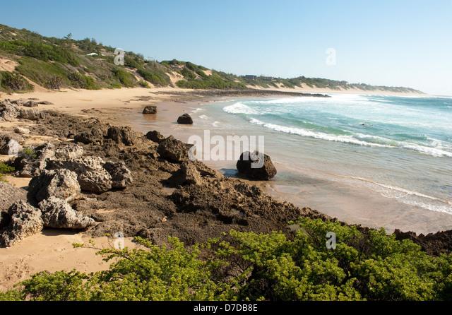 Beach, Tofo, Mozambique - Stock Image
