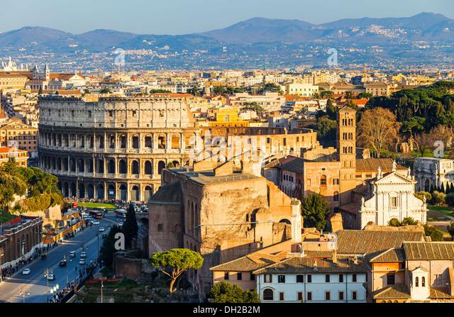 Colosseum at sunset - Stock-Bilder