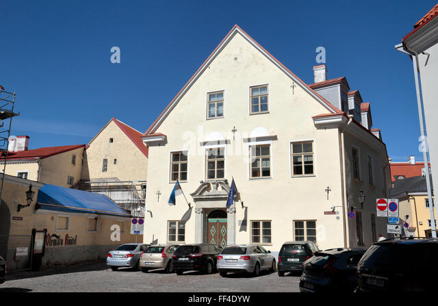 Riigikantselei, an Estonian Government office on Toompea Hill, Tallinn, Estonia. - Stock Image