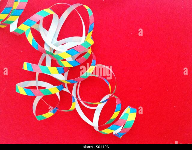 Party streamers - Stock Image