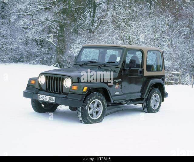1997 Jeep Wrangler Sahara. Artist: Unknown. - Stock Image