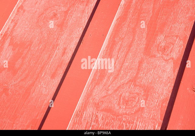 red wood pattern close up - Stock Image
