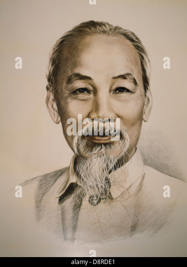 Ho Chi Minh (1890-1969), Vietnamese Nationalist Leader, Portrait - Stock-Bilder