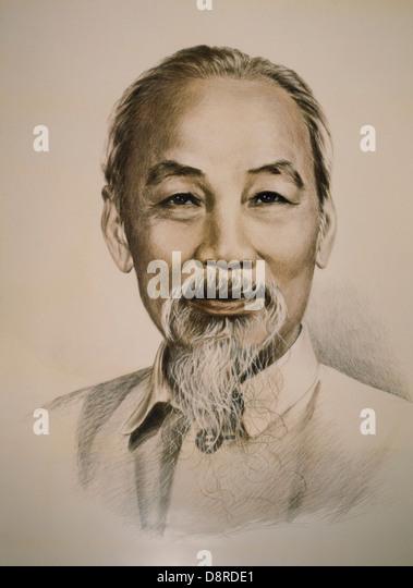 Ho Chi Minh (1890-1969), Vietnamese Nationalist Leader, Portrait - Stock Image