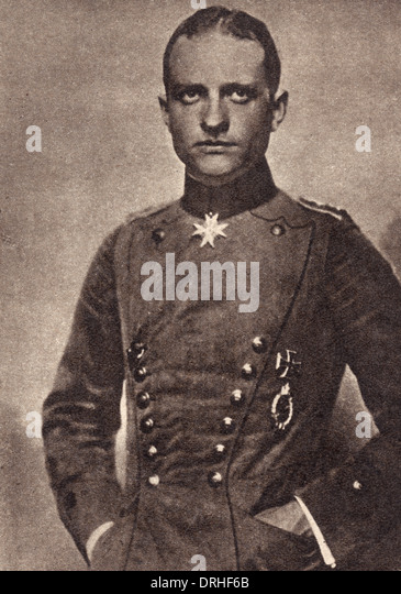 Baron Manfred von Richthofen, German air ace, WW1 - Stock Image