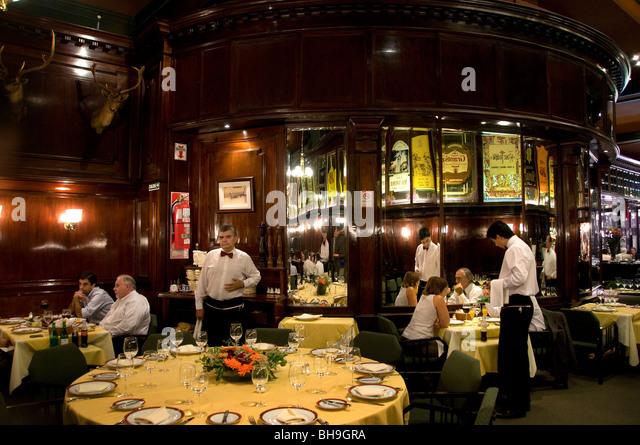 The Brighton Restaurant Buenos Aires Bar Cafe Pub  Argentina Town City - Stock Image