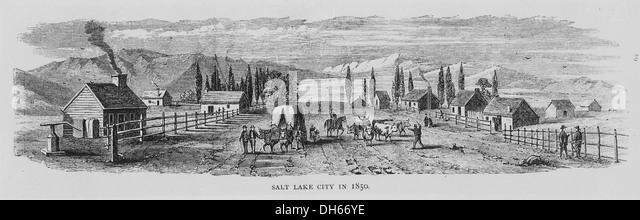 Salt Lake City in 1850. , 1850 513336 - Stock-Bilder