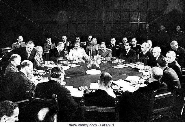 Berlin. The Potsdam Conference. July 1945. Reprophoto ITAR-TASS ----- Ïîòñäàìñêàÿ - Stock Image