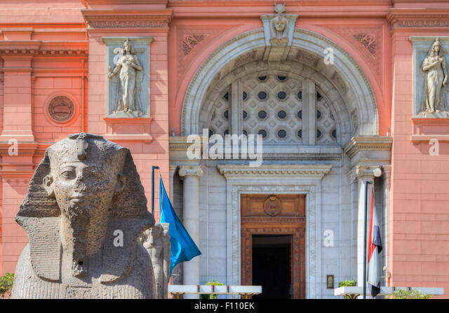 Egyptian Museum, Cairo, Egypt, Africa - Stock Image