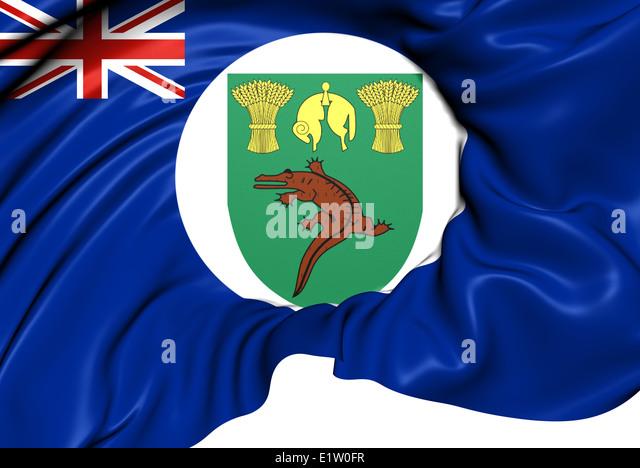 Territory of Basutoland Flag (1884-1966). Close Up. - Stock Image
