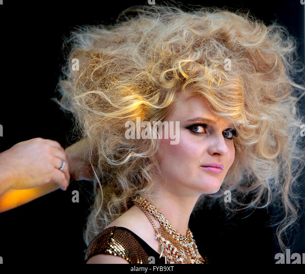 London, UK. 24th April, 2016.London Olympia held the Pro Hair Live is the Industry event for saloon owners,with - Stock Image