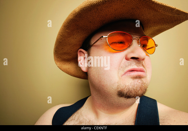 A Cowboy's Expression - Stock Image