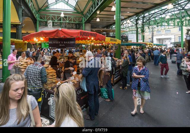 Boroughs Market, Bread,   Gourmet Food, London United Kingdom, - Stock Image