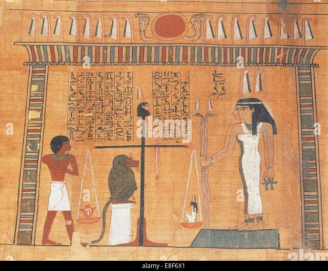 The Book of the Dead. Artist: Ancient Egypt - Stock Image