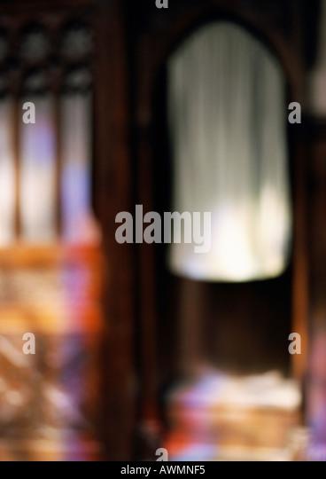 Confessionnal, blurred - Stock-Bilder