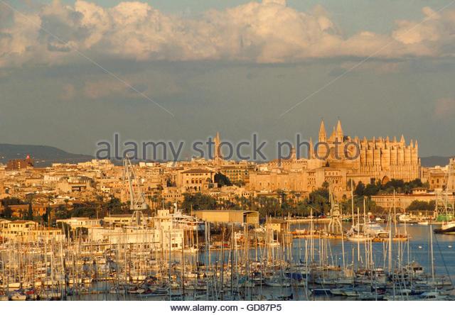 Spain, Balearic Islands, Majorca, Palma de Majorca - Stock Image