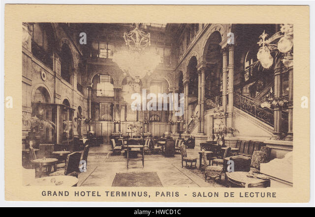 Grand Hotel Terminus, Paris, France, Salon de Lecture - Stock Image
