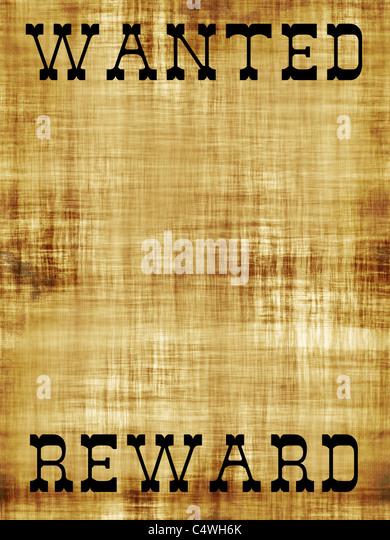 Vintage Wanted Poster Grunge Illustration Stock Photos & Vintage ...