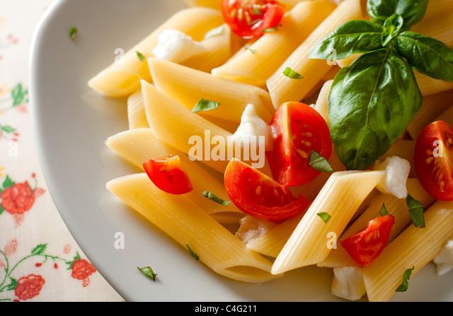 Pasta Tricolore - Stock Image