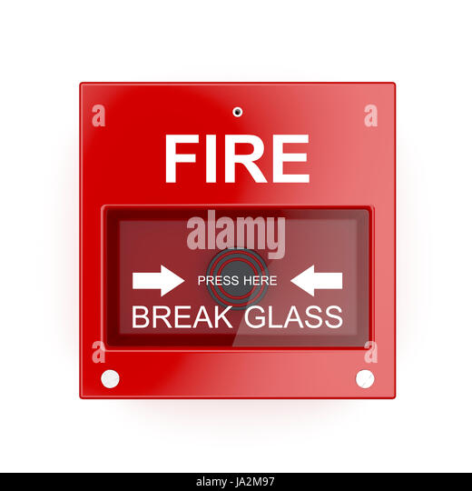 Fire alarm break glass cut out stock images pictures alamy for How to cut glass with fire
