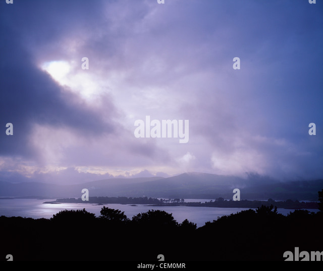 Co Kerry, Kenmare Bay, Dunkerron Island, Ireland - Stock Image