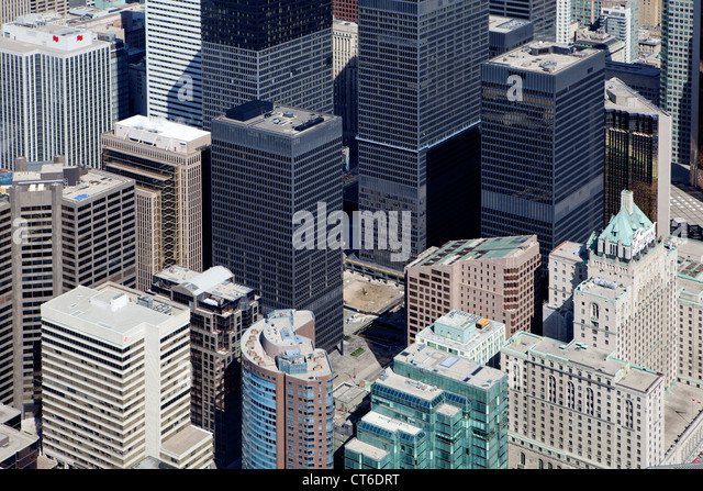 Toronto viewed from the CN tower. - Stock Image