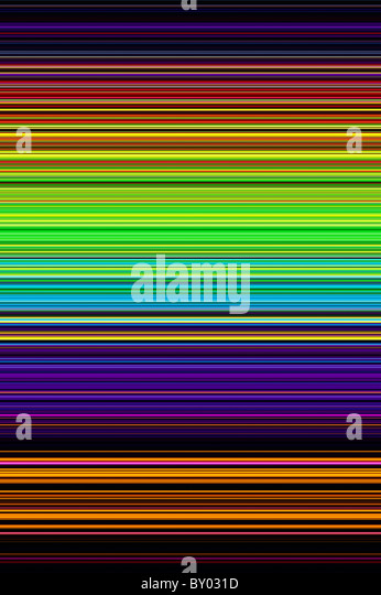Multicoloured striped patterns. Digitally crafted from a photograph - Stock Image