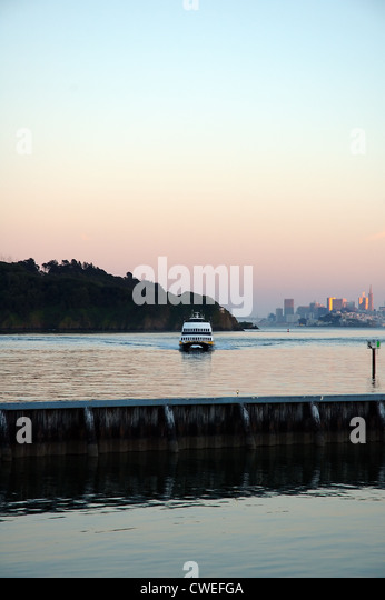 San Francisco Ferry at Sunset - Stock Image
