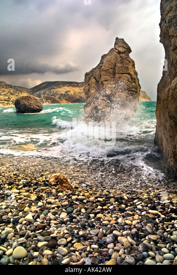 Birth of Aphrodite, Cyprus. - Stock Image
