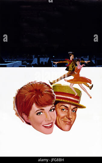 JULIE ANDREWS & DICK VAN DYKE POSTER MARY POPPINS (1964) - Stock Image