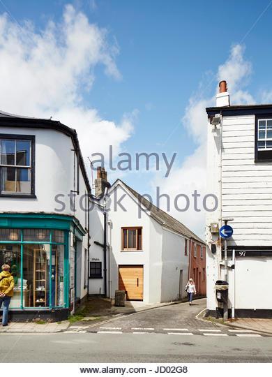 Exterior of David Sheppard Architects Studio. Studio Totnes, Totnes, United Kingdom. Architect: David Sheppard Architects, - Stock-Bilder