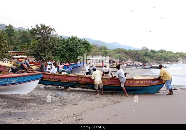 Jamaica beach boats stock photos jamaica beach boats for Jamaica fishing charters