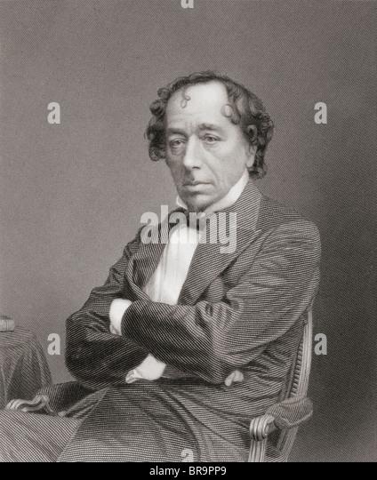 Benjamin Disraeli, 1st Earl of Beaconsfield, 1804 to 1881. British Prime Minister. - Stock Image