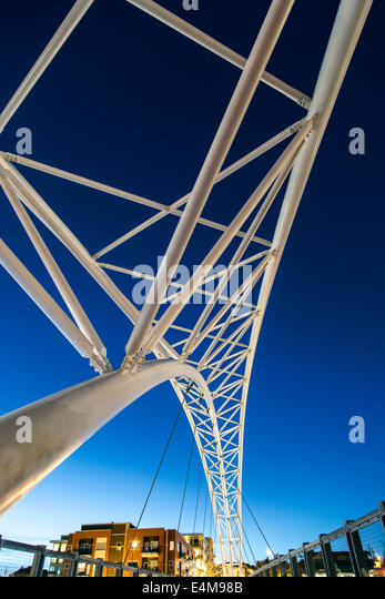Sixteenth Avenue Bridge, Denver, Colorado USA - Stock Image