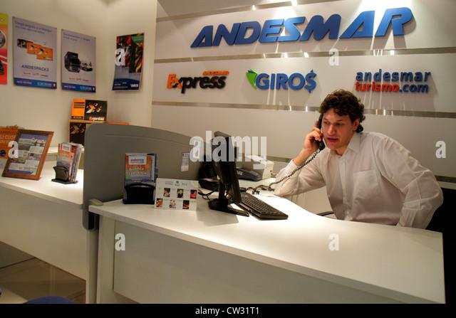 Mendoza Argentina Villa Nueva Mendoza Plaza Shopping indoor mall shopping center centre Andesmar bus line ticket - Stock Image