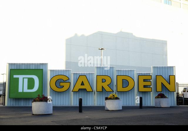 Exterior Photograph of The TD Toronto Dominion Bank Garden in Boston Massachusetts USA Home of Boston Celtics & - Stock Image