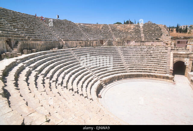 The South Theatre Jerash North Jordan Middle East - Stock Image