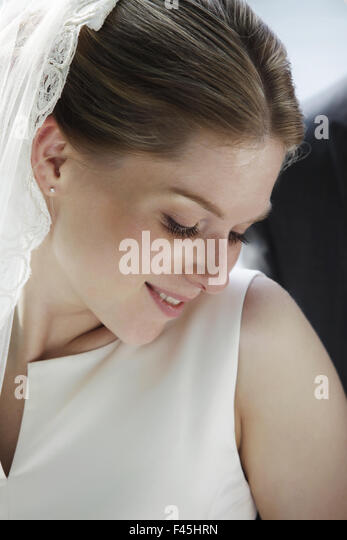 Timid bride - Stock Image