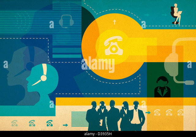 Business process outsourcing - Stock Image