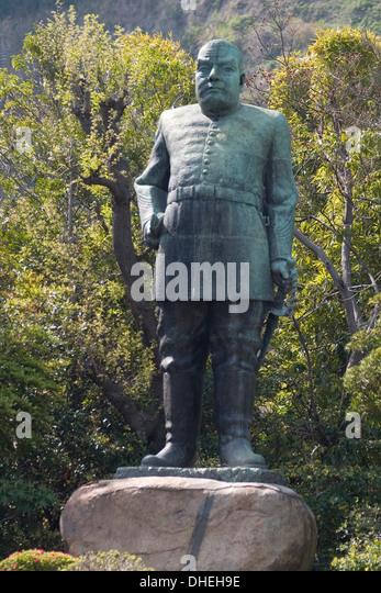 Dog Walking Man Statue Japan