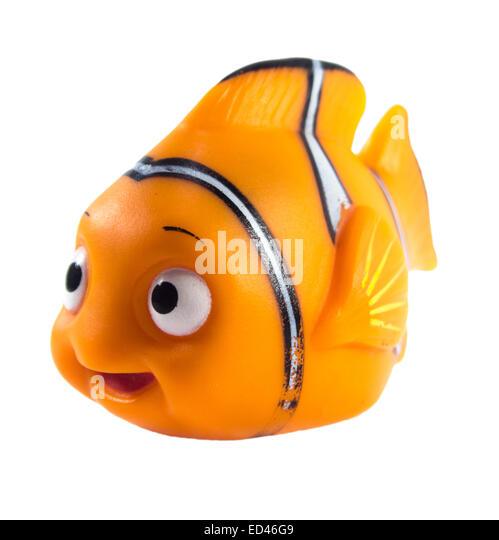 Amman, Jordan - November  1, 2014: Marlin cartoon fish toy character of Finding Nemo movie from Disney Pixar animation - Stock Image